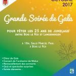 Soirée de Gala des 25 ans de jumelage entre Bois le Roi et Langenargen, le 21 octobre 2017.